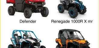 Новые модели квадроциклов и мотовездеходов Can-Am | BRP