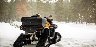 На чем ездить зимой? Гусеницы «APACHE 360» и «Backcountry» для квадроциклов Can-Am.